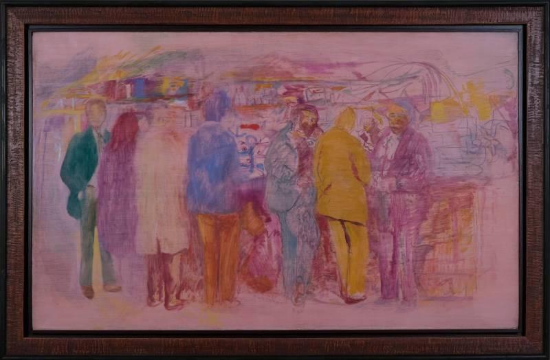 Issue de sa série parisienne, cette oeuvre Farid Aouad est parti 40 000 $