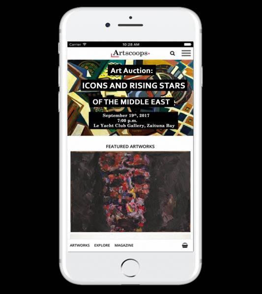 La galerie d'art en ligne Artscoops lance son application mobile