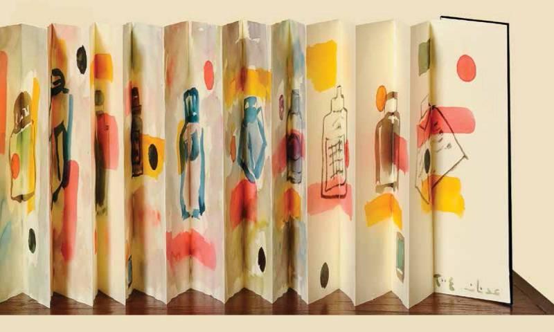 L'oeuvre d'Etel Adnan a fait l'objet d'un combat entre trois collectionneurs. C'est finalement un amateur suisse qui l'a emportée.