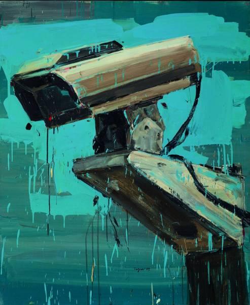 Une oeuvre de la peintre libanaise Tagreed Darghouth, prêtée le temps de la BAF par Basel Dalloul