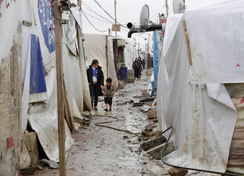 Camp de réfugiés syriens dans la Békaa