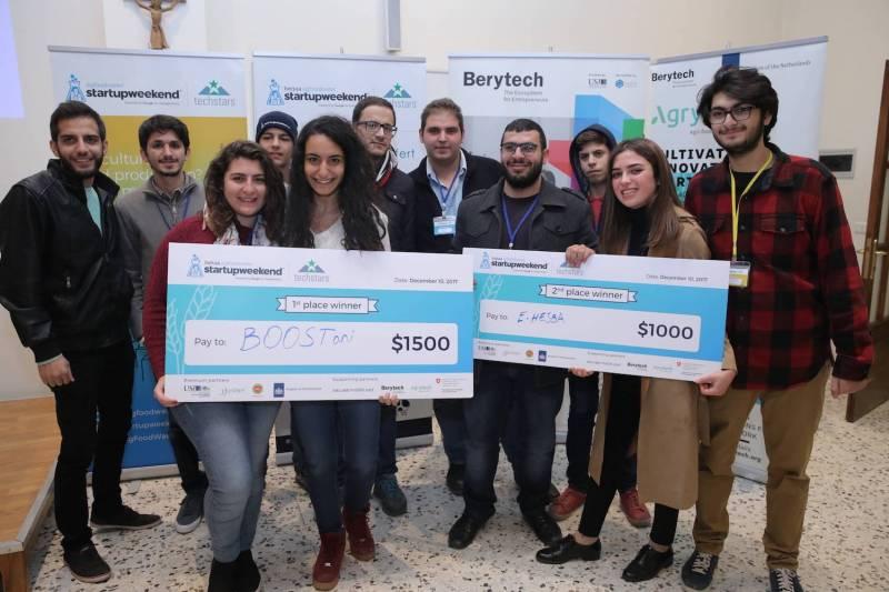 BOOSTani remporte la Startup Weekend Bekaa