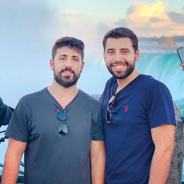 Les cofondateurs de LiBeiroot, Amr Kahhale et Omar al-Sakkah