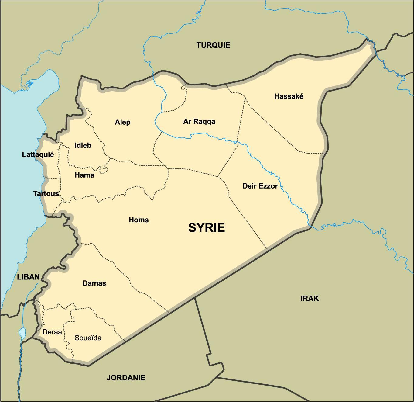 La future carte administrative de la Syrie fait débat