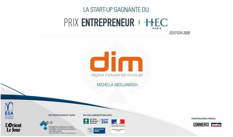 "The startup Dim wins the first edition of the ""HEC Entrepreneur Prize"""