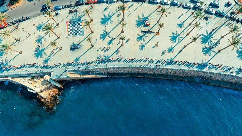 Photo de la chaîne humaine du 28 octobre, lancée sur la plateforme en ligne lebtivity.com