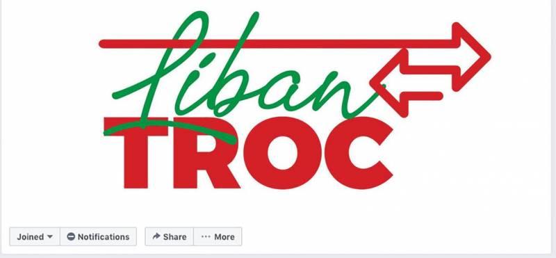 Capture d'écran de la page Facebook Liban Troc