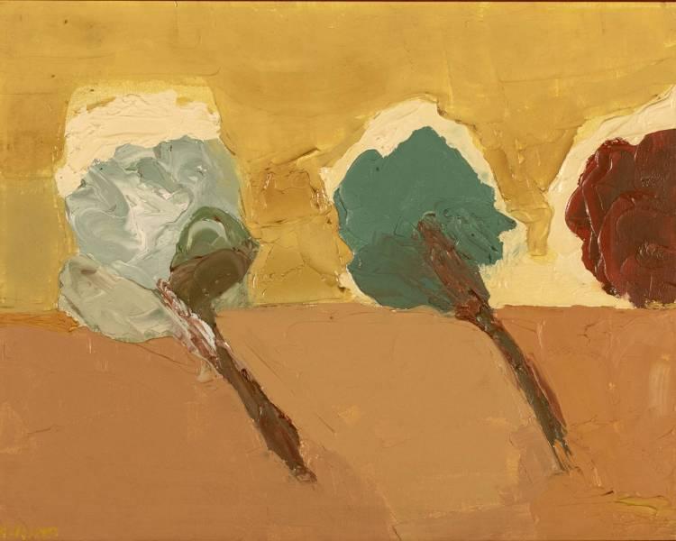 cette peinture d'Etel Adnan a été adjugée 130.000 dollars fin novembre chez FA Auctions