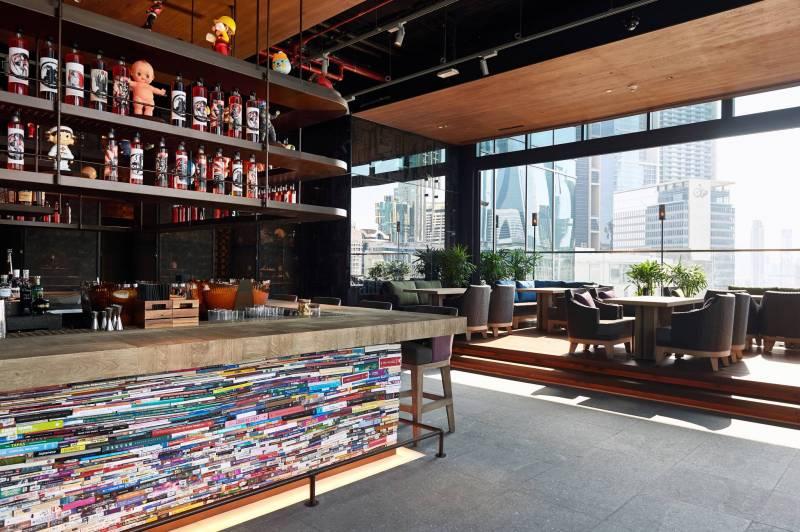En décembre dernier, le restaurant Clap (Addmind) a ouvert sur le toit d'un immeuble dans le quartier d'affaires de Dubaï.