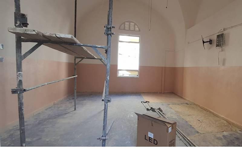 La Troisième école publique d'Achrafié a été durement touchée par l'explosion, comme 207 autres établissements du Grand-Beyrouth.