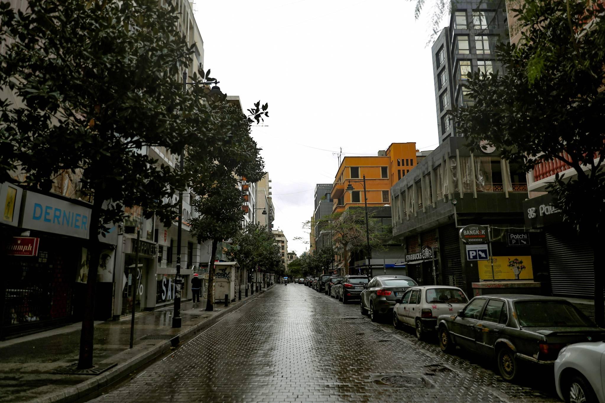 Les locaux vides s'enchaînent à Hamra, autrefois vitrine commerciale du Liban