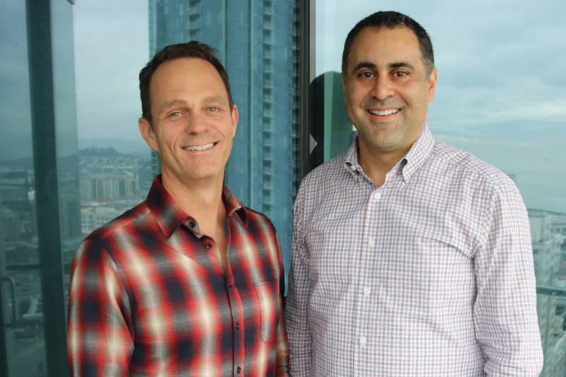 Jad Boutros(droite), PDG et cofondateur de la startup TerraTrue, aux côtés de Chris Handman (gauche), second cofondateur.