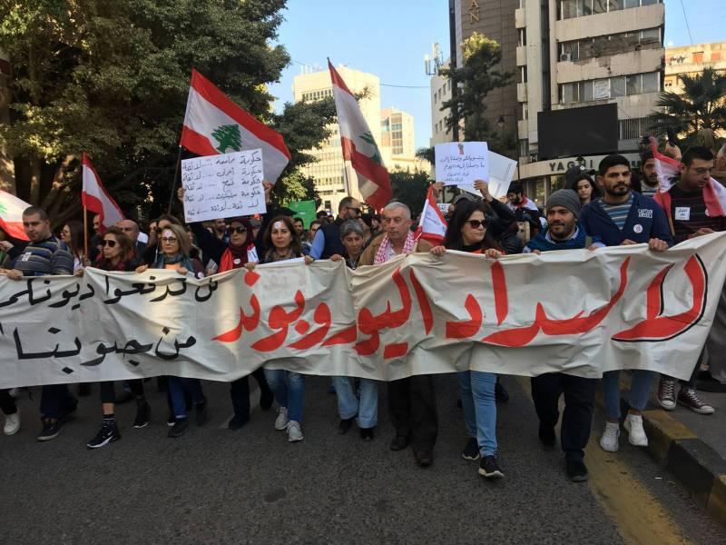 Marche contre le paiment des Eurobonds à Beyrouth, 5 mars 2020